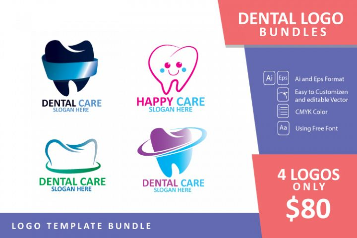 Set bundle logo - Dental and dentist Business