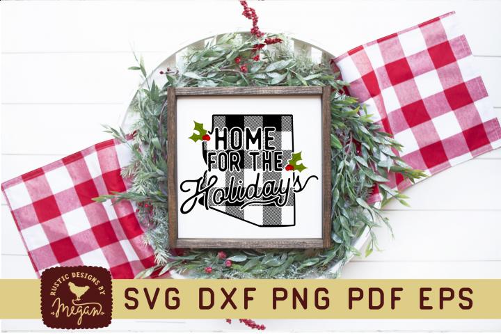 Arizona Buffalo Plaid State Home SVG Bundle