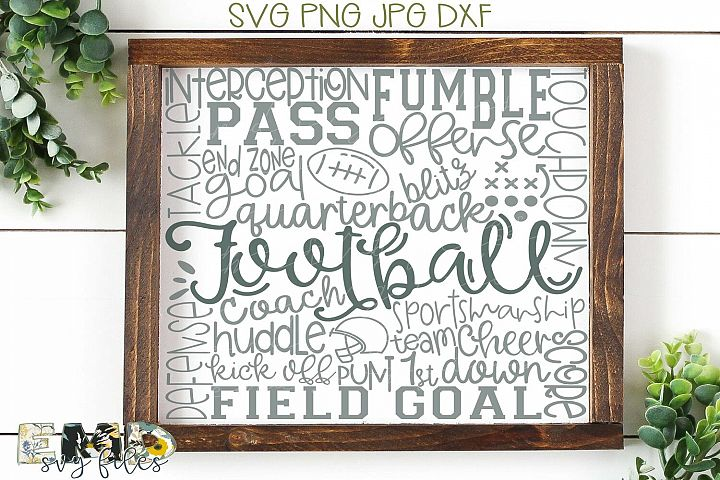 Football Game Day Subway Art Svg File