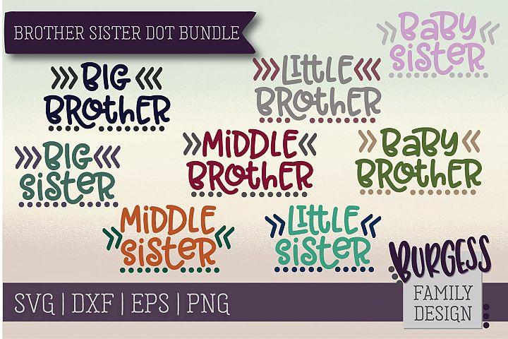 Brother Sister dot bundle | SVG DXF EPS PNG