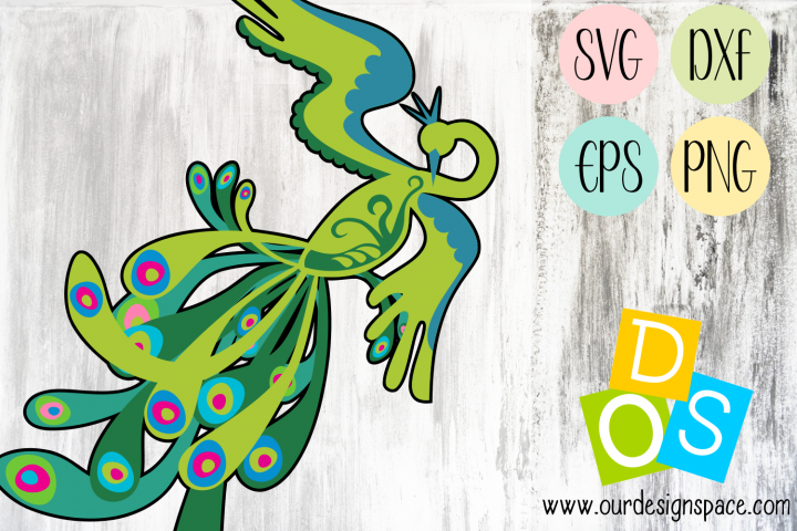 Peacock SVG, DXF, EPS and PNG files for crafters