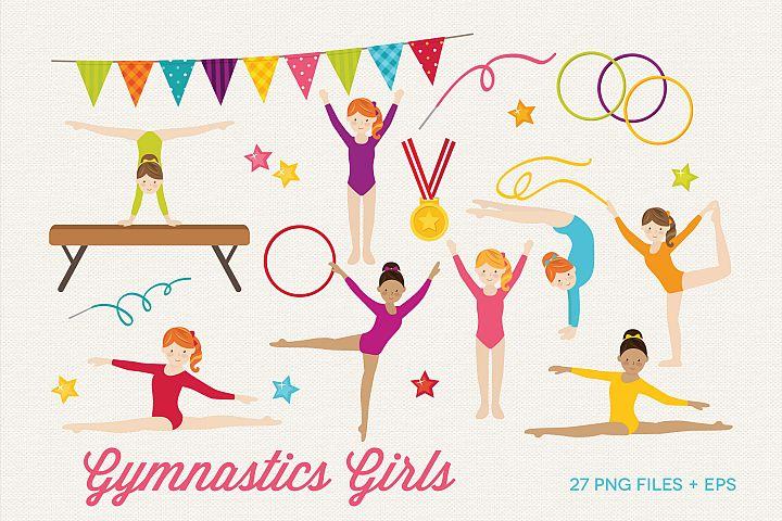 Gymnastics Girl Clipart