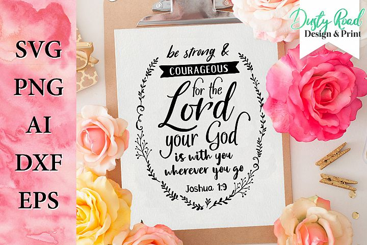 SVG & PNG - prayer - christian quote - joshua - bible verse
