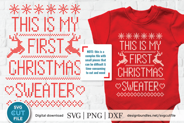 Ugly Christmas Sweater svg, First Tacky Cristmas sweater svg