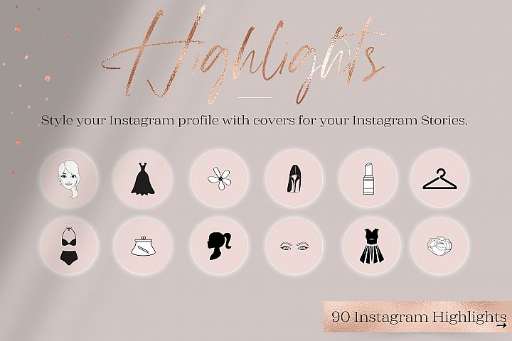 Feminine Highlights IG, Fashion Flower Highlights IG