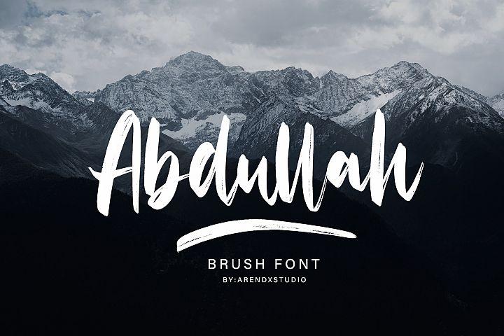 Abdullah Handbrush Typeface