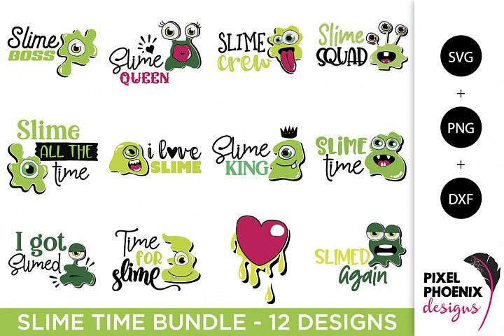 Slime Time SVG Bundle