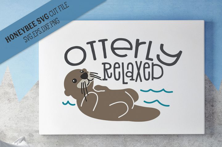 Otterly Relaxed SVG Cut File
