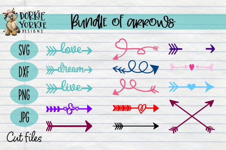 14 Arrows BUNDLE - Heart. Love, Dream, Swirl, live SVG
