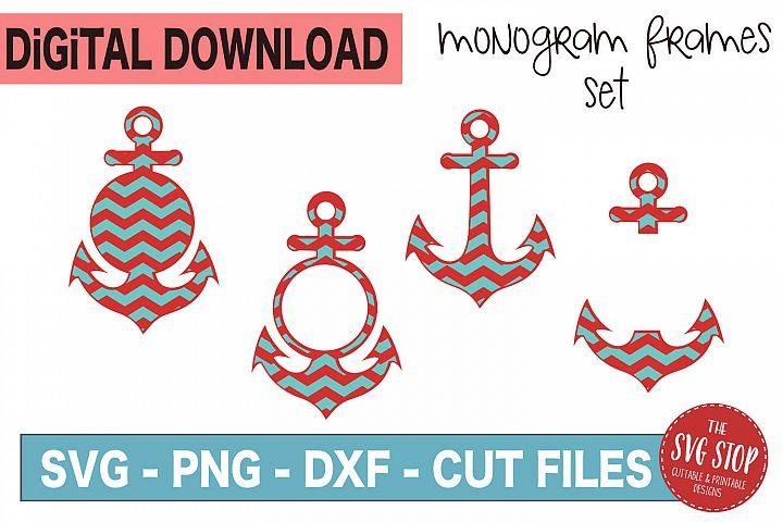 Anchors Monogram Frames - SVG, PNG, DXF