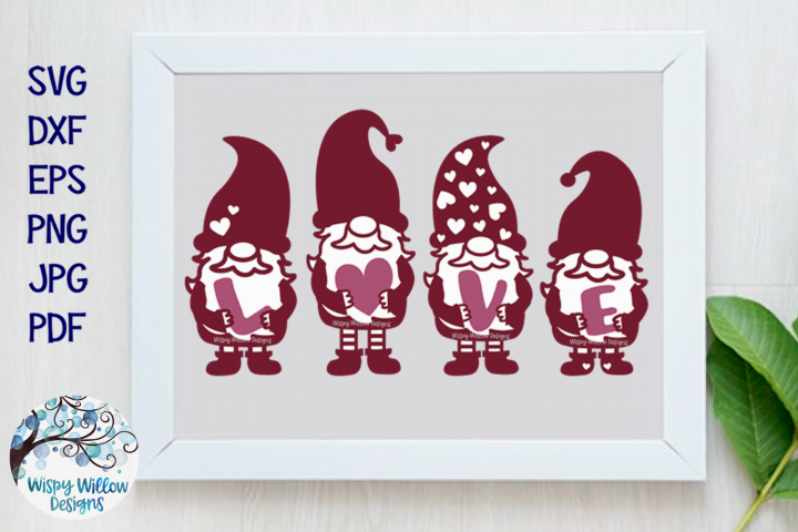 Gnome Love SVG | Valentines Day Gnome Sign SVG Cut File