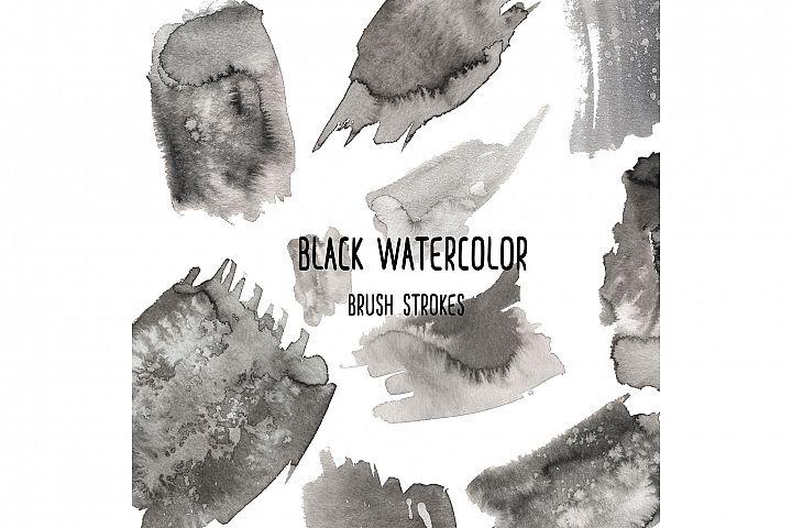 Watercolor Black Brush Strokes