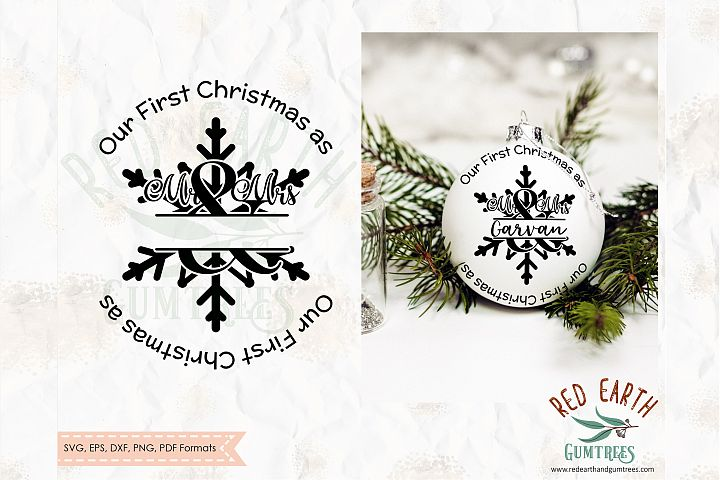 Our 1st Christmas as Mr and Mrs decal SVG,PNG,DXF,EPS,PDF