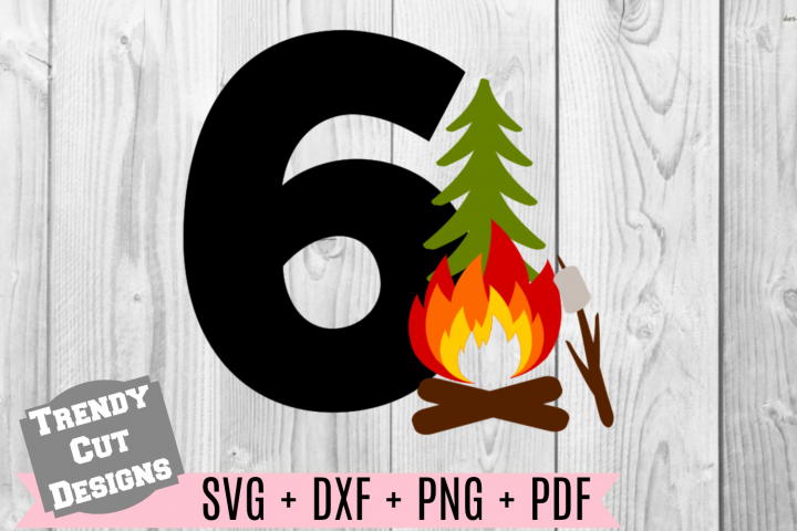 6th Campfire Birthday Set SVG