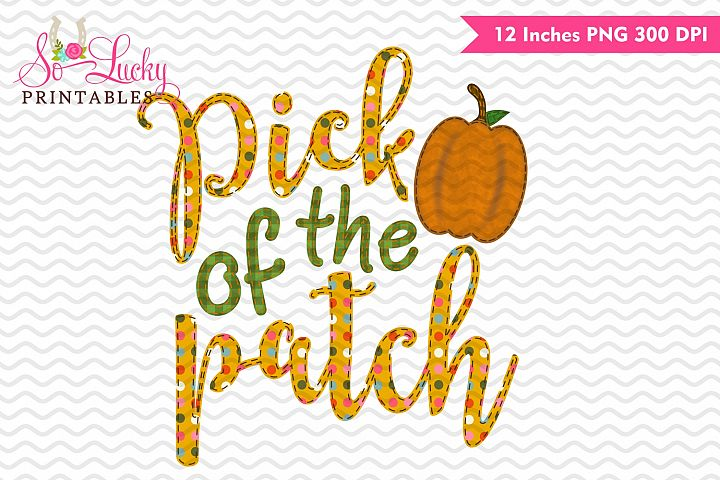 Pick of the patch fall watercolor sublimation design