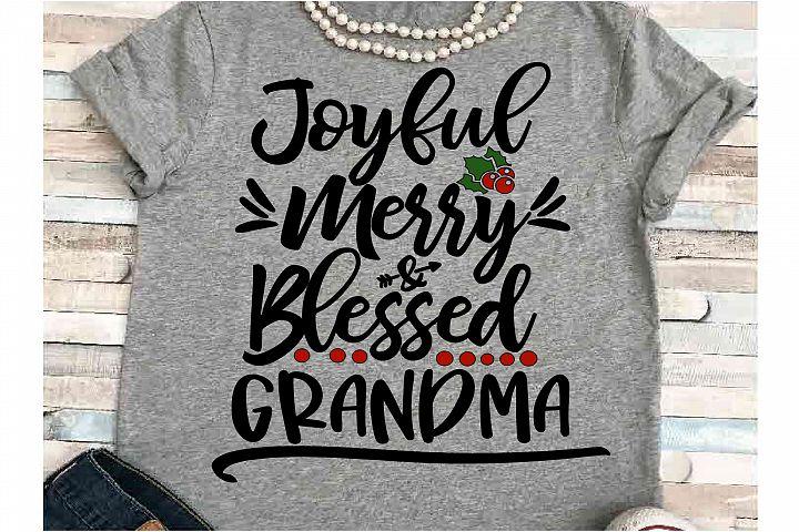 Merry SVG DXF JPEG Silhouette Cameo Cricut Grandma Christmas