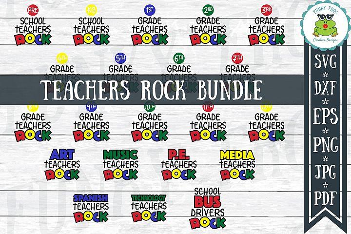 Teachers Rock - School SVG Cut File