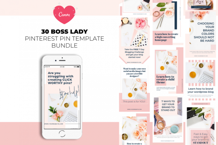 Boss Lady Pinterest Templates