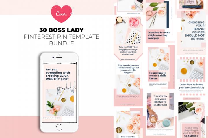 Boss Lady Pinterest Templates
