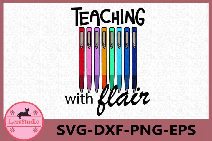Teaching with flair svg, Teacher Svg