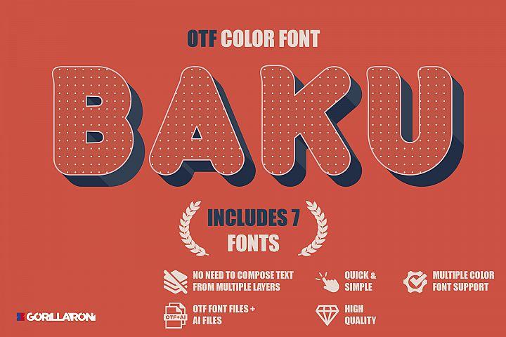 Baku - SVG color font
