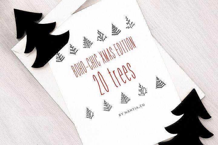 Boho-Chic Xmas Edition 20 Xmas Trees