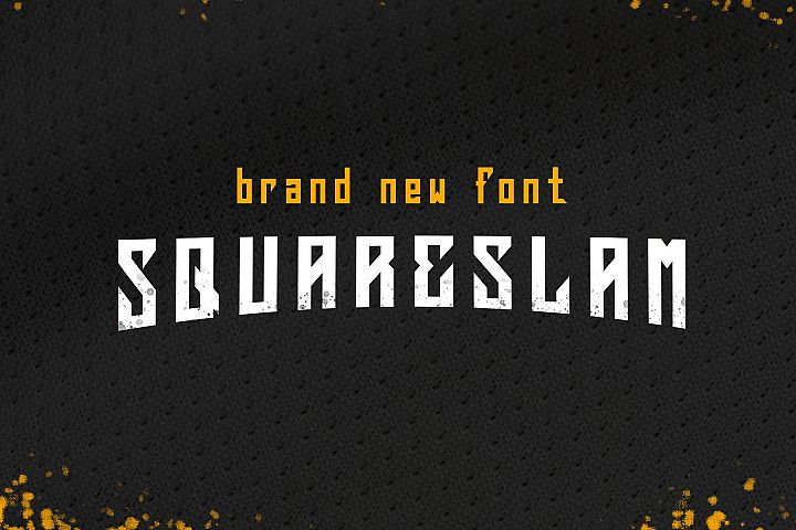 Squareslam sports and esports font