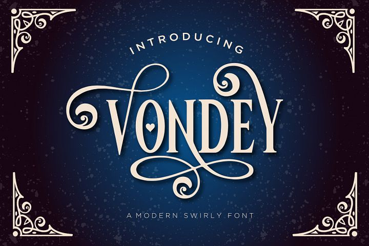 Vondey - Holiday font & ornaments