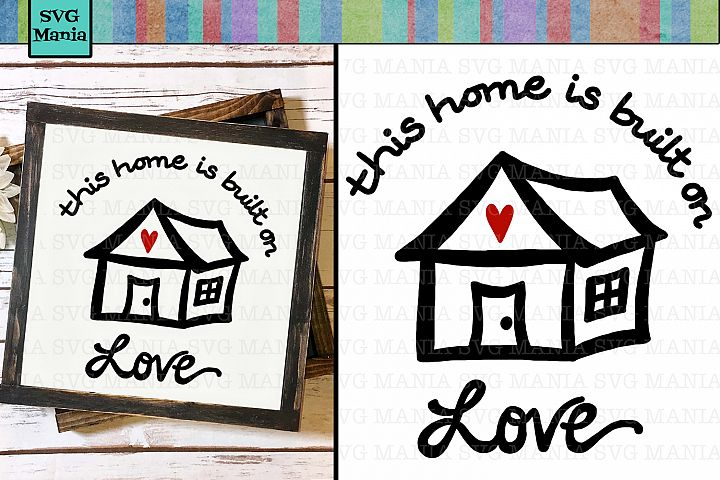 House Quote SVG File, Family Quote SVG, Wood Sign SVG, SVG