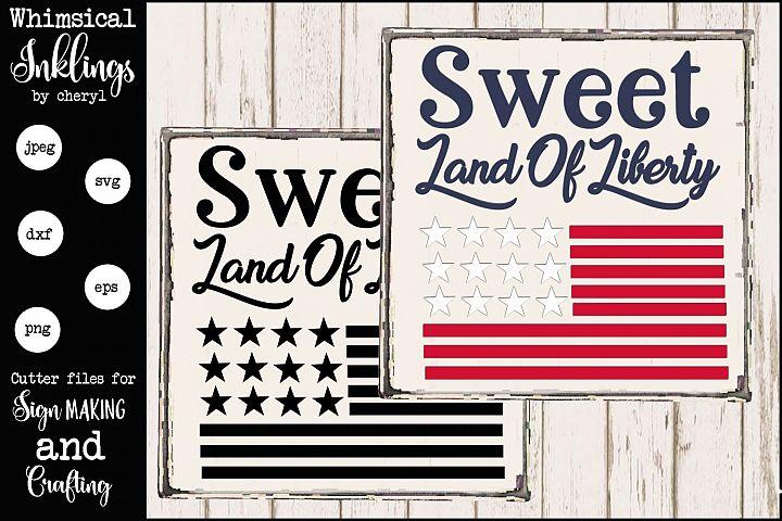 Sweet land Of Liberty SVG