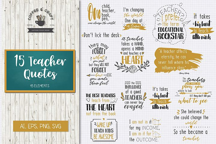 15 Teacher Quotes