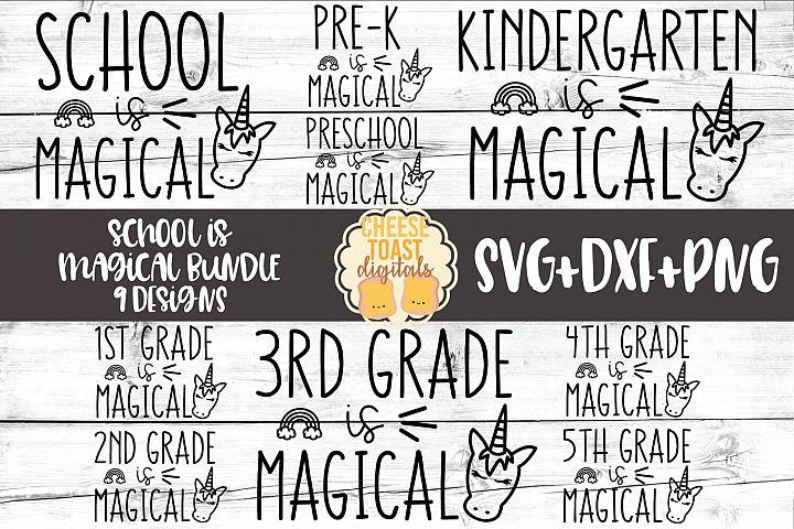 School Is Magical Bundle - Back to School Unicorn SVG Files