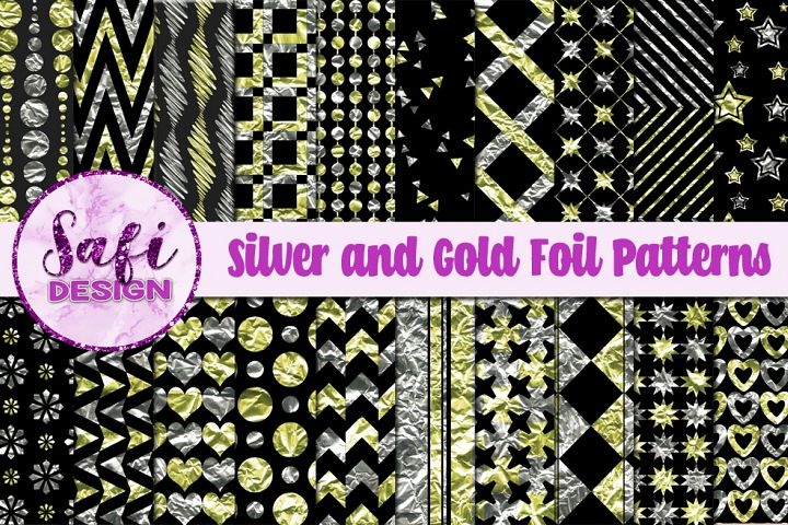 Silver and Gold Foil Patterns