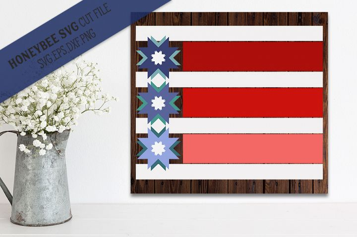 Stars and Stripes Modern Barn Quilt