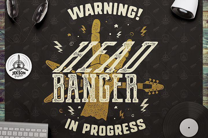 Head Banger SVG Cut File - Music Printable svg Rock n Roll