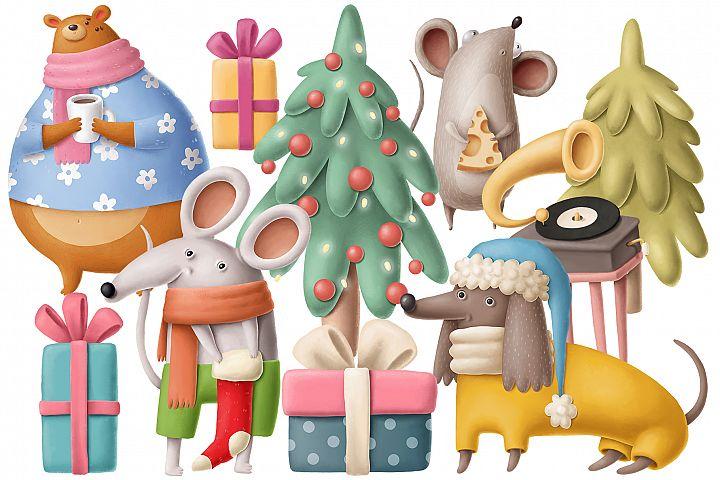 Woodland christmas scene 2
