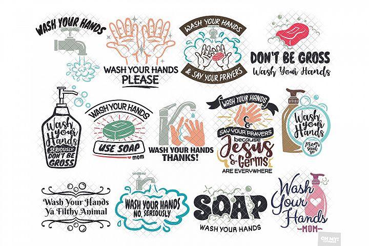 Wash Your Hands SVG & Sublimation in SVG,DXF,PNG, JPG, EPS