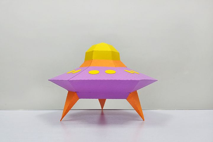 DIY Papercraft Alien ship,Papercraft UFO,X-files Ufo,Cricut