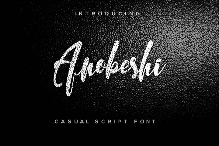 Anobeshi Font