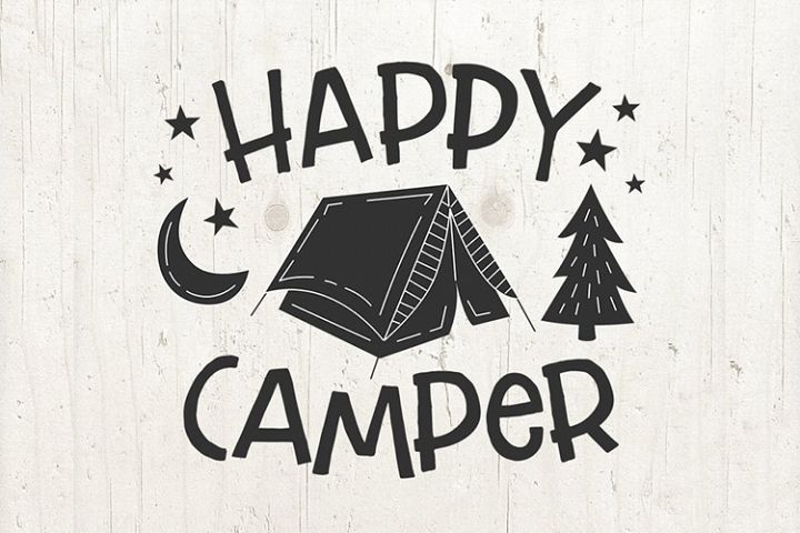 Camping SVG Camp Life svg Summer SVG - Happy Camper svg