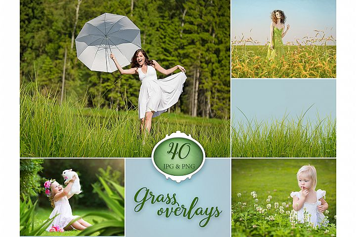 40 Grass Photo Overlays