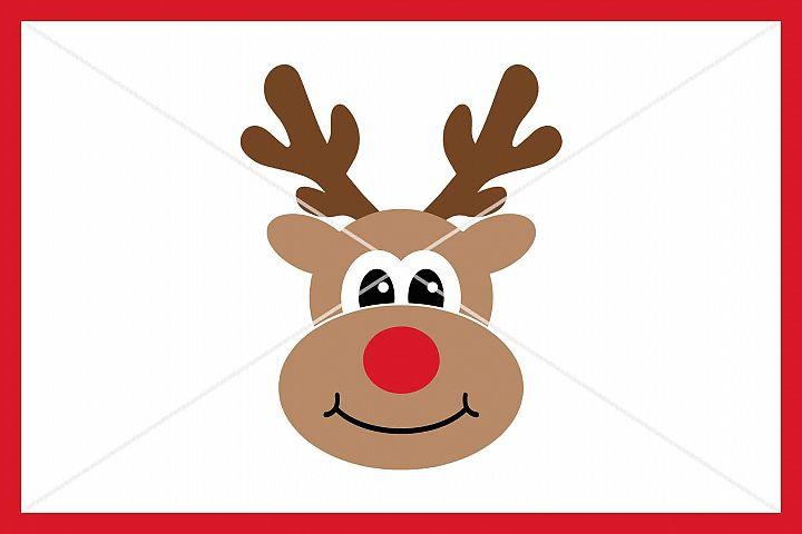 Christmas Reindeer, Cut File, SVG DXF PNG, Deer Face