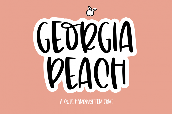 Georgia Peach - A Fun Handwritten Font