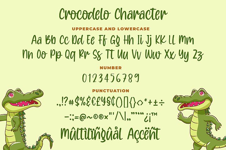 Crocodelo - a Quirky Font example image 6