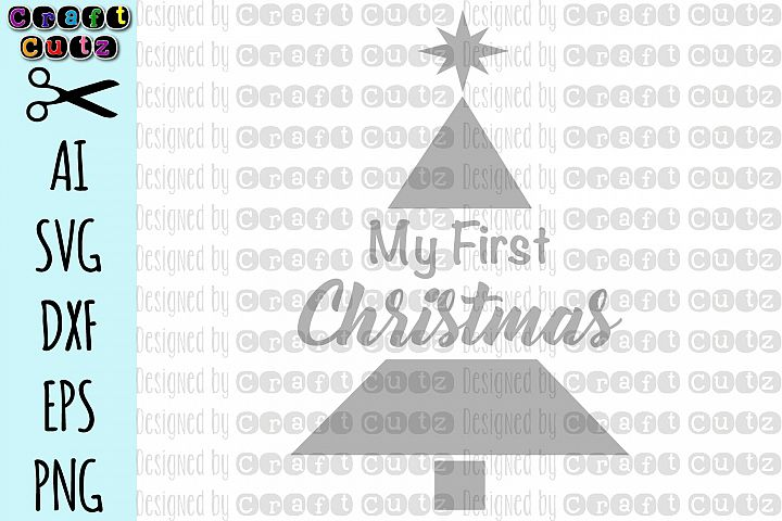 My First Christmas svg, First Christmas Cut file, Cut File