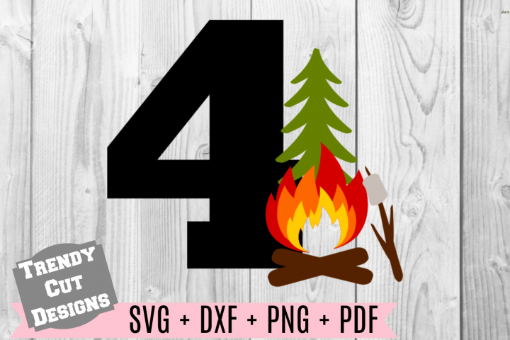 4th Campfire Birthday Set SVG