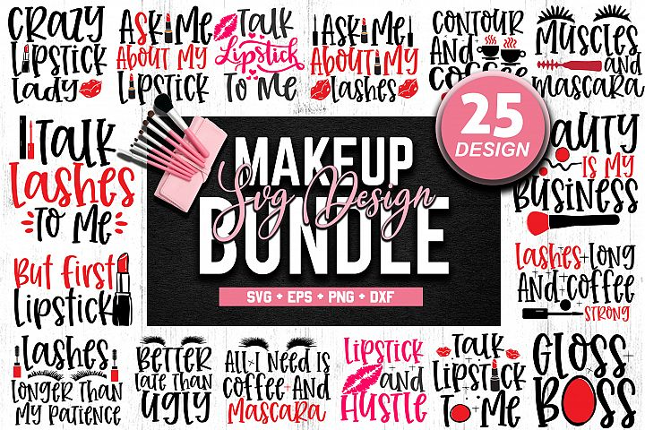 Makeup SVG Bundle, Cosmetic SVG Bundle