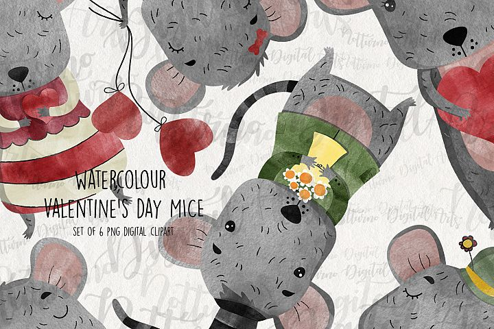Watercolor Valentine Clipart. Clipart png format