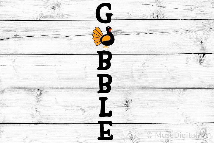 Gobble Svg, Turkey Porch Sign, Thanksgiving Porch Sign Svg