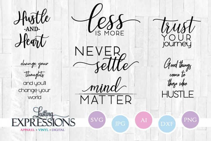 Motivational Quote Bundle // SVG Cricut Design Set